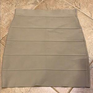 BCBGMAXAZRIA Khaki Power Skirt